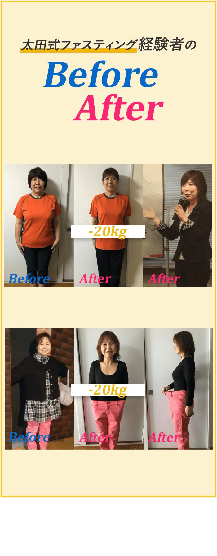 太田式ファスティング経験者のBeforeAfter