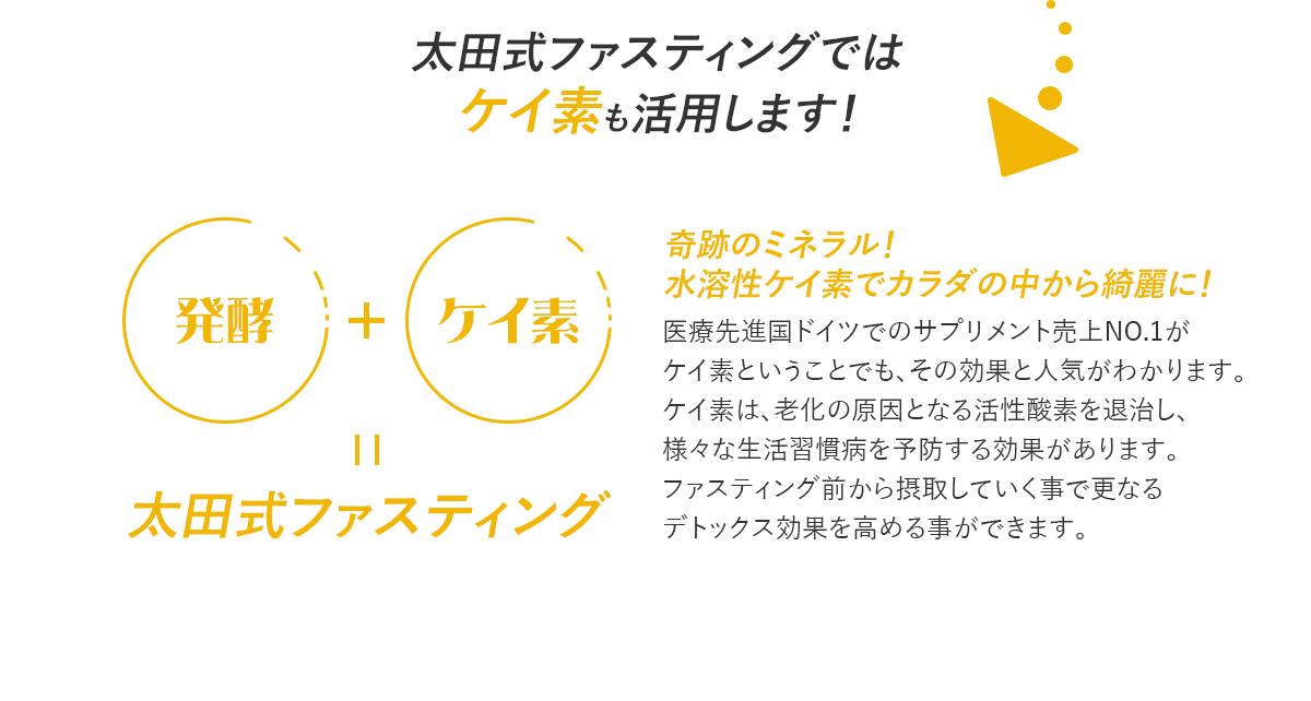 太田式ファスティングでは ケイ素も活用します!